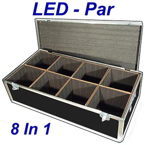"LED PAR Lights 1/4"" ATA Case - 8 Compartments ID 10""x10""x12"" H"