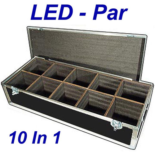 "LED PAR Lights 1/4"" ATA Case - 10 Compartments ID 8""x8""x10"" H"