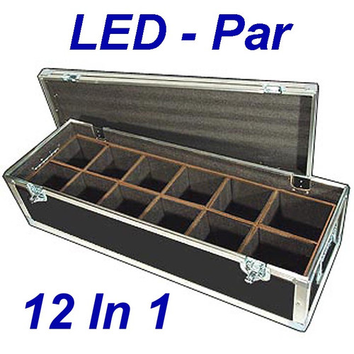 "LED PAR Lights 1/4"" ATA Case - 12 Compartments ID 6""x6""x10"" H"