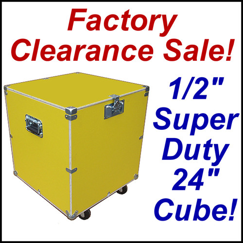 """Super Duty 24"""" Cube Case Kit Supply Trunk - CLOSEOUT! Yellow"""