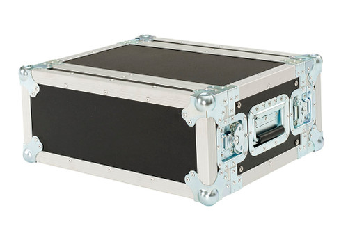 """New 4 Space 4u 12"""" Deep 3/8"""" Ply ATA Effects Rack Case"""