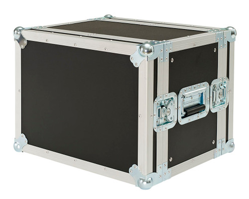"New 8 Space 8u 12"" Deep 3/8"" Ply ATA Effects Rack Case"