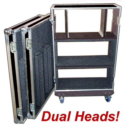 "Dual Head - Rack Combo ATA Case CUSTOM MADE For ANY Heads 3/8"""