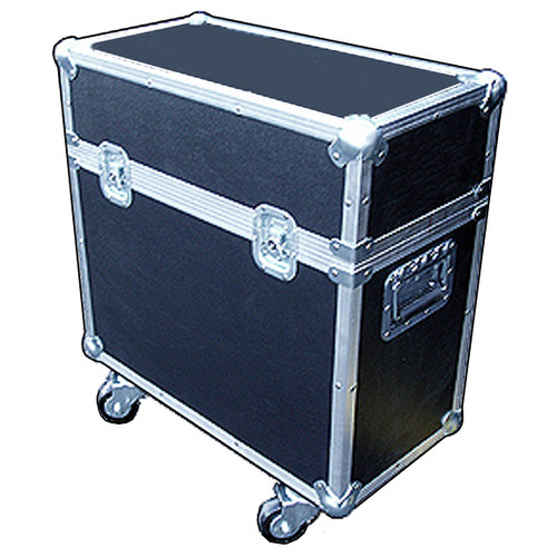 """2 In 1 Scanner ATA Cases Many Sizes Available for Popular Scanners Martin MX1, MX4 1/4"""" ATA Construction, All Recessed Hardware, Heavy Duty Ball Corners, Completely Foam Lined Removable Etha Foam Divider Inside Dimensions of each compartment 12"""" x 12"""" x 23"""" Height Includes Heavy Duty 3"""" Casters"""