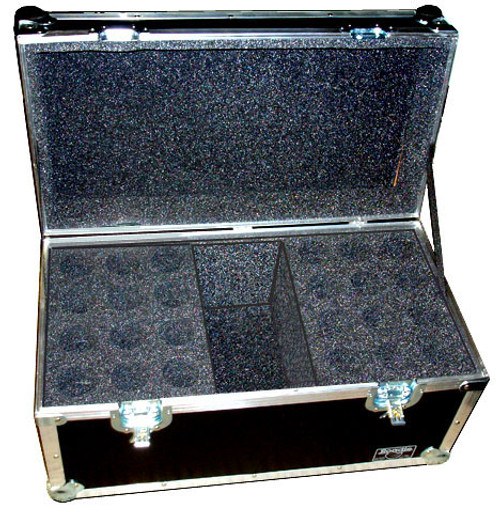 """24 Microphones With Compartment - 1/4"""" ATA Case"""