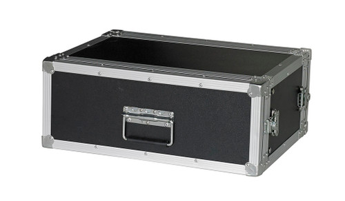 """4 Space 4u 12"""" Deep 1/4"""" Ply ATA Effects Rack Case - CLOSEOUT!"""