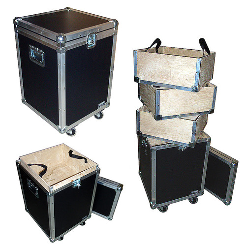 "Accessory Case w/3 Lift-Out Trays - 1/4"" ATA Lite Duty w/Wheels"
