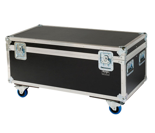 """44"""" ATA Cable Trunk w/2 Compartments - Standard High - 3/8"""" Ply w/Wheels"""