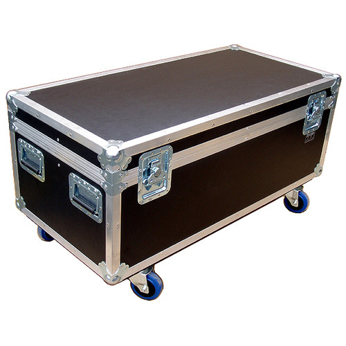 """44"""" ATA Cable Trunk w/3 Compartments - Standard High - 3/8"""" Ply w/Wheels"""