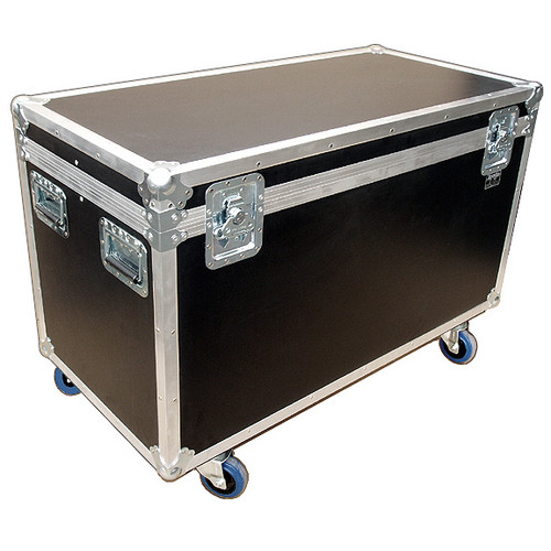 """44"""" ATA Cable Trunk w/2 Compartments - Extra High - 3/8"""" Ply, w/Wheels"""