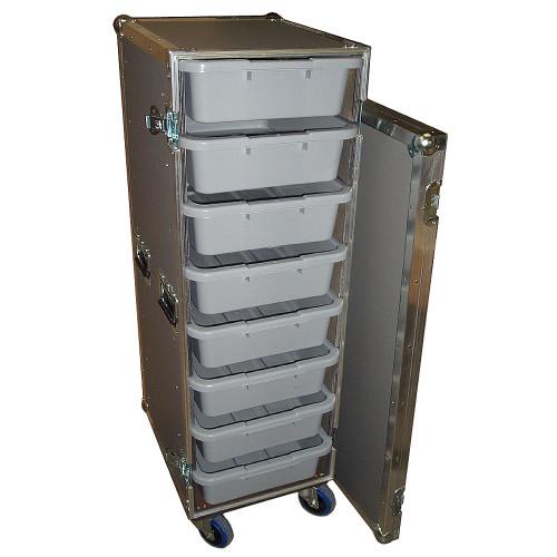 "8 Small Tub - Drawer 3/8"" Ply Heavy Duty ATA Case w/Wheels"