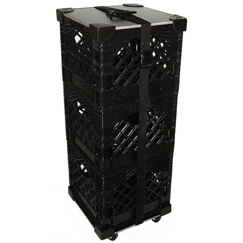 Rolling Milk Crate Stack