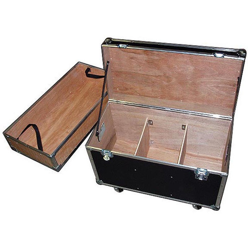 """""""BULLY"""" Supply Trunk 1/4"""" ATA Case w/2 Dividers - Top Tray - Wheels"""