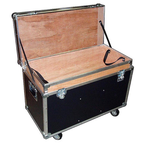 """BULLY"" Supply Trunk 1/4"" ATA Case w/2 Dividers - Top Tray - Wheels"