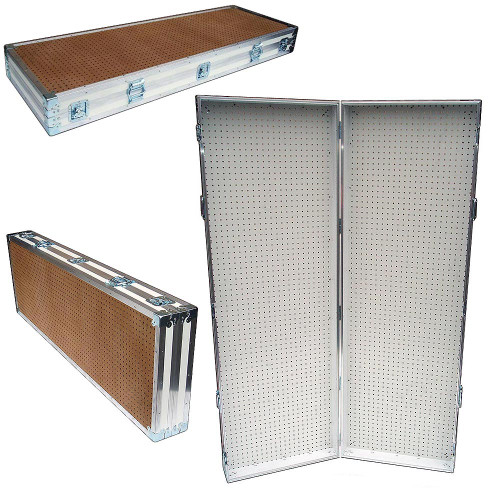 Pegboard Rack - Display Stand - Portable Case 48x72 Open