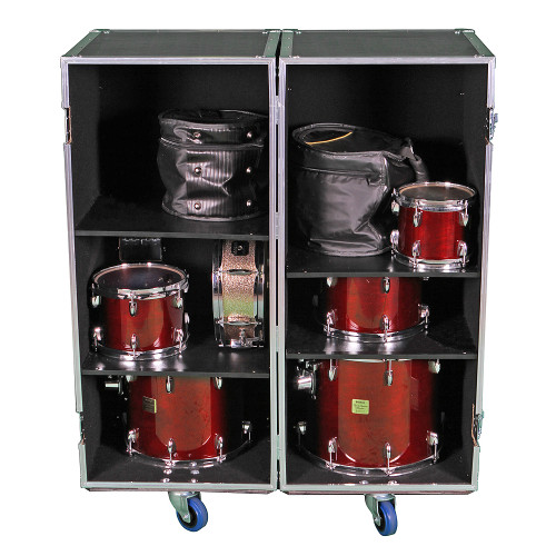 2 Sided Combo ATA Drum Case w/Adjustable Shelves #202046