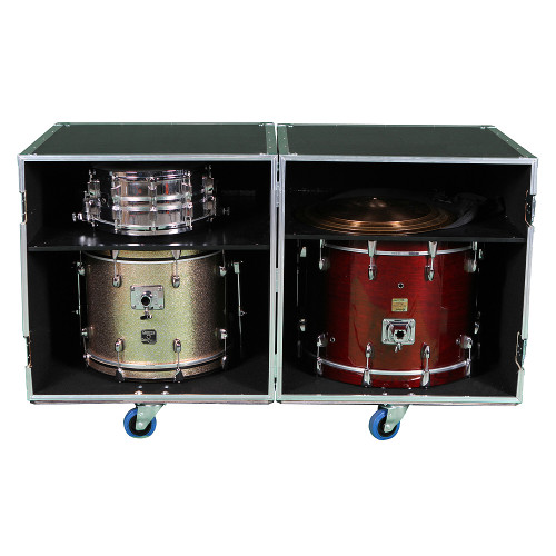 2 Sided Combo ATA Drum Case w/Adjustable Shelves #282828