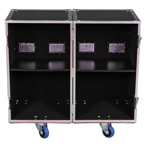2 Sided Utility Trunk w/Adjust Shelves - ID 18x18x30 Ea Side