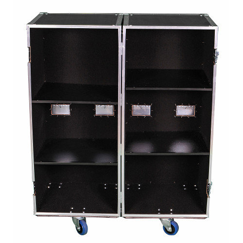 2 Sided Utility Trunk w/Adjust Shelves - ID 20x20x46 Ea Side