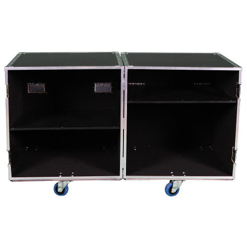 2 Sided Utility Trunk w/Adjust Shelves - ID 28x28x28 Ea Side