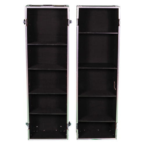 2 Sided Display ATA Case w/Adjust Shelves ID 17x10x59 Ea Side