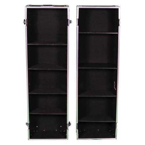 2 Sided Display ATA Case w/Adjust Shelves ID 17x10x59 Ea Side