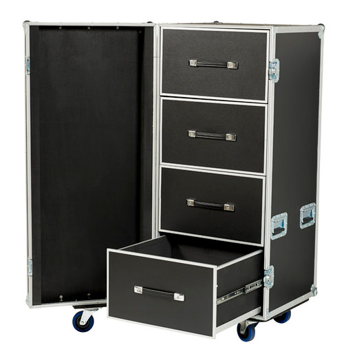 "LARGE 4 DRAWER WORK CASE IN 3/8"" PLY WITH 4"" CASTERS"