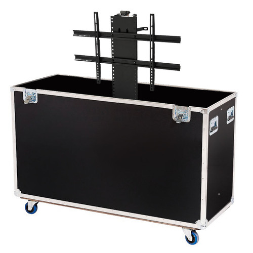 Custom ATA Road Case to Fit 1 LCD TV Monitor Screen from 71-80'' with Electric Lift