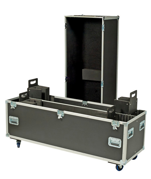 USER ADJUSTABLE ROAD CASE FITS 2 SCREENS BETWEEN 60-85''