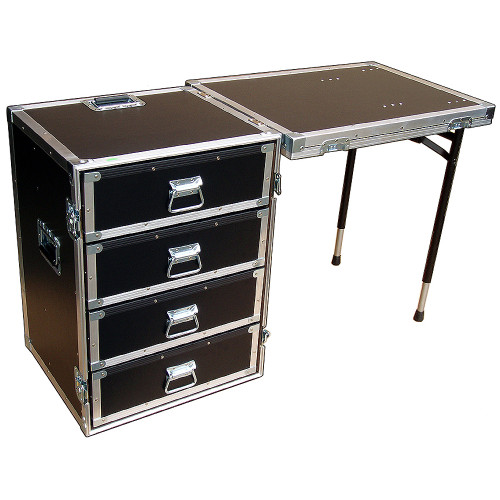 4 Drawer Workstation - Lid Table and Dolly Wheels