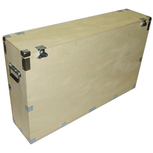 "Heavy Duty Crate Style Bare Wood Plasma Cases 32"" Plasma ID Inside Dimensions 34"" x 9"" x 26"""