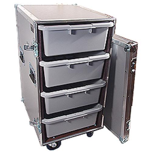 """4 Large Tub - Drawer 3/8"""" Ply Heavy Duty ATA Case w/Wheels"""