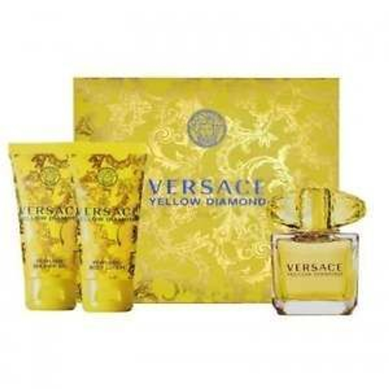 1 7oz Perfume Set Yellow Diamond Versace By 3pc rxBeCodW