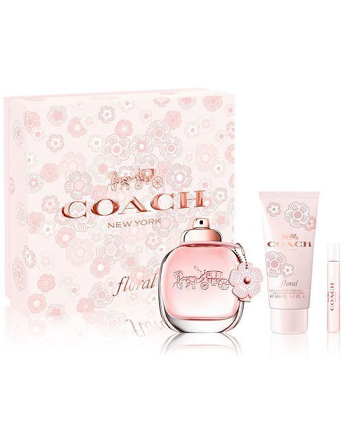 Coach New York Floral 3pc Perfume Set Women