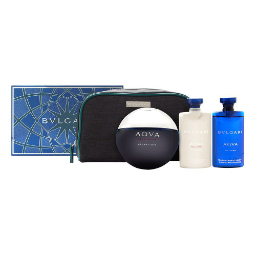 Bvlgari Aqva Atlantiqve 4pc Cologne Set