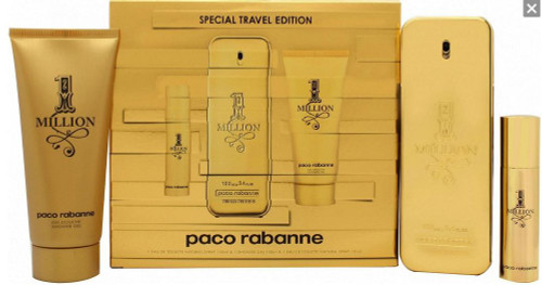 1 Million Paco Rabanne 3pc Cologne Set Men