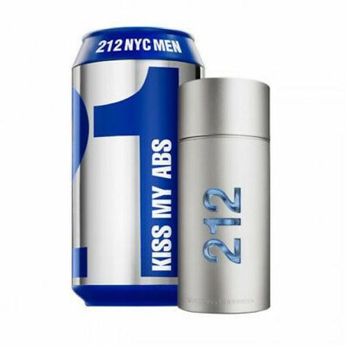 "212 Men Nyc ""kiss My Abs"" By Carolina Herrera 3.4oz Eau De Toilette"