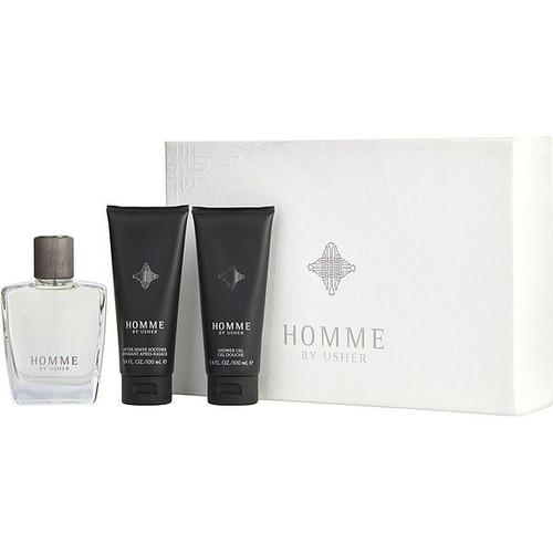 Usher Homme For Men Eau De Toilette Spray 3.4 oz. Gift Set