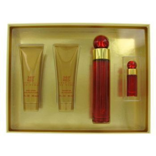 360 Red by Perry Ellis 4pc 3.4oz Gift Set Women