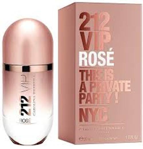 212 VIP Rose by Carolina Herrera Eau De Parfum Spray For Women 1.7oz