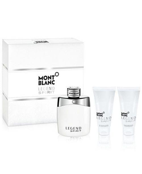 Mont Blanc Legend Spirit 3pcs Cologne Set For Men