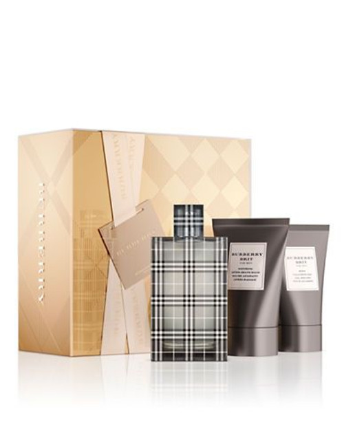 Burberry Brit by Burberry 3pc Cologne Gift Set For Men