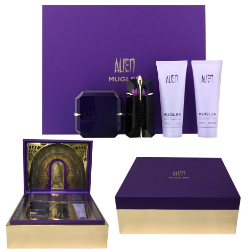 Alien by Thierry Mugler 2.0oz 4pc Set Women
