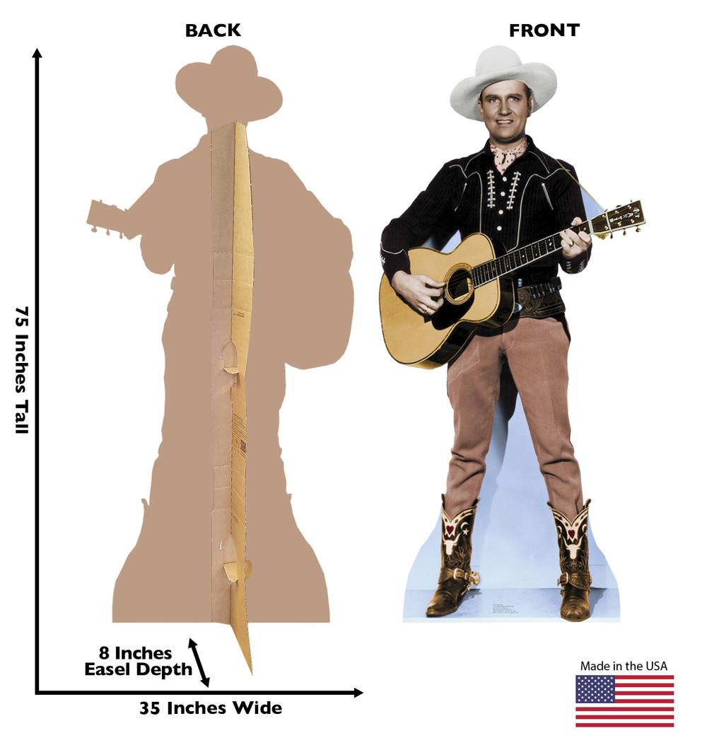 Gene Autry Lifesize cardboard cutout dimensions