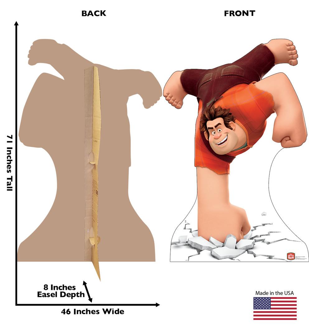 Wreck-It Ralph Slam Lifesize Cardboard Cutout Dimensions