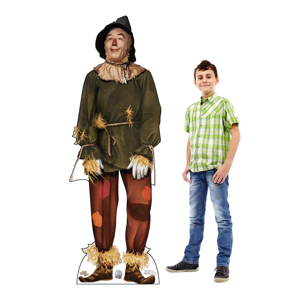 Scarecrow 2 - Wizard of Oz Lifesize Cardboard Cutout with model