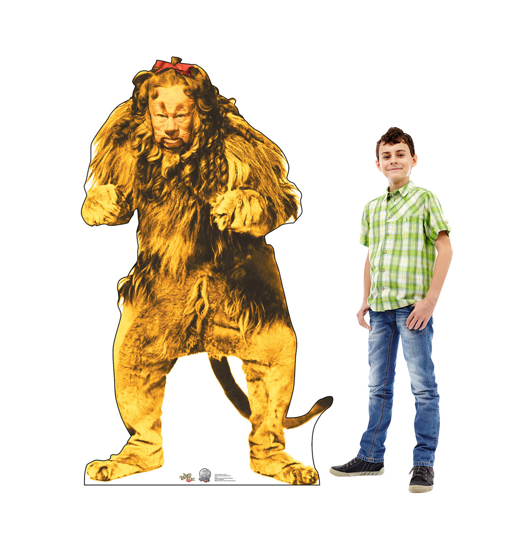 Cowardly Lion - Wizard of Oz Lifesize Cardboard Cutout with Model