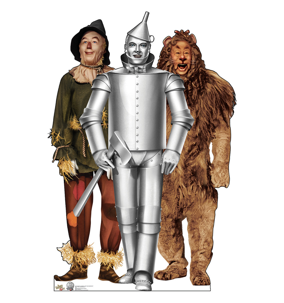 Scarecrow, Tin Man and Cowardly Lion - Wizard of Oz Lifesize Cardboard Cutout
