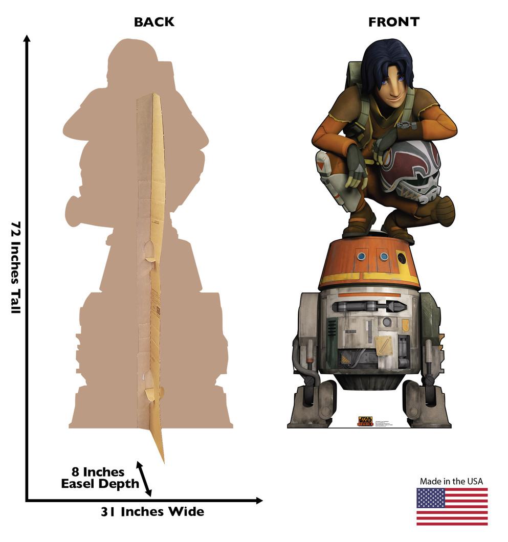 Ezra and Chopper - Star Wars Rebels Lifesize Cardboard Cutout