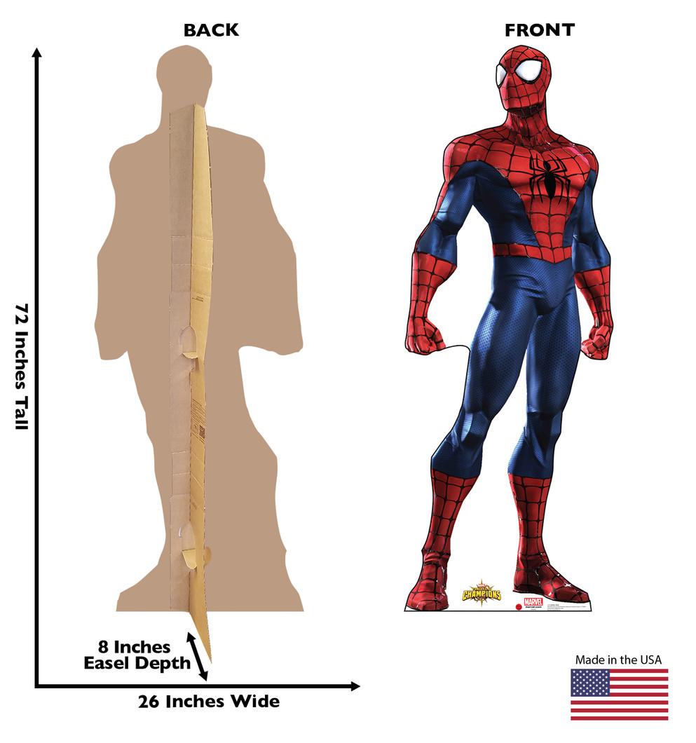 Spiderman - Marvel Lifesize Cardboard Cutout Dimensions